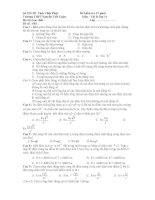 Đề kiểm tra 15 phút Môn Vật lý lớp 11 - Đề số : 002 pptx