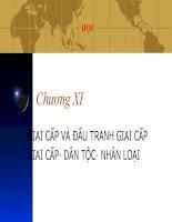 Chương XI GIAI CẤP VÀ ĐẤU TRANH GIAI CẤP GIAI CẤP DÂN TỘC NHÂN LOẠI pot