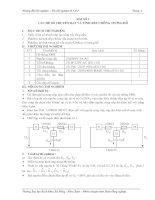 Tài liệu hướng dẫn thí nghiệm cơ sở kỹ thuật điện - Bài 2 ppsx