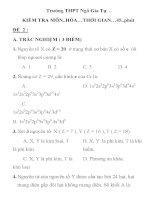 kiểm tra 1 tiết môn hóa học lớp 10 Trường THPT Ngô Gia Tự docx