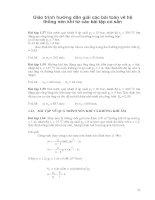 Giáo trình hướng dẫn giải các bài toán về hệ thống nén khí từ các bài tập có sẵn phần 1 docx