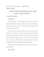 Giáo án Vật lý 12 nâng cao - TIẾT 55-56 : THỰC HÀNH KHẢO SÁT ĐOẠN MẠCH ĐIỆN XOAY CHIỀU CÓ R, L, C MẮC NỐI TIẾP pdf