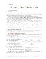Cơ sở thiết kế máy - Phần 1 Những vấn đề cơ bản trong thiết kế máy và chi tiết máy - Chương 3 pps