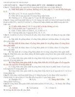 CHUYÊN ĐỀ HOÁ ÔN THI ĐẠI HỌC CHUYÊN ĐỀ 9: ĐẠI CƯƠNG HOÁ HỮU CƠ potx