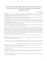 ĐÁNH GIÁ KẾT QUẢ PHẪU THUẬT CẦU NỐI ĐỘNG MẠCH CẢNH DƯỚI ĐÒN CÙNG BÊN TRONG BẰNG ỐNG GHÉP MẠCH MÁU PTFE doc