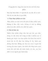 10 nguyên tắc vàng cần tuân thủ khi chế biến thực phẩm ppt