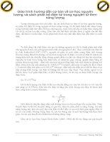 Giáo trình hướng dẫn cơ bản về cơ học nguyên lượng và cách phân bố điện tử trong nguyên tử theo năng lượng phần 1 potx