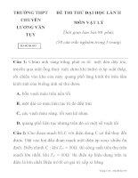 ĐỀ THI THỬ ĐẠI HỌC LẦN II TRƯỜNG THPT CHUYÊN LƯƠNG VĂN TỤY Mã đề thi 493 ppt
