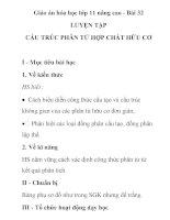 Giáo án hóa học lớp 11 nâng cao - Bài 32 LUYỆN TẬP CẤU TRÚC PHÂN TỬ HỢP CHẤT HỮU CƠ pot