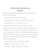 Bộ đề ôn luyện thi đh môn hóa học ĐỀ SỐ 06 pdf