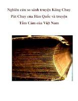 Nghiên cứu so sánh truyện Kông Chuy Pát Chuy của Hàn Quốc và truyện Tấm Cám của Việt Nam pdf