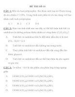 ĐỀ THI TRẮC NGHIỆM LUYỆN THI CĐ, ĐH MÔN HÓA HỌC ĐỀ THI SỐ 10 docx