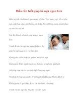 Điều cần biết giúp bé ngủ ngon hơn ppt
