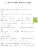 ĐỀ KIỂM TRA 15 PHÚT LỚP 10NC ĐỀ SỐ 1 TRƯỜNG THPT ĐÔ LƯƠNG 2 ppsx
