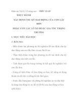 Giáo án Vật lý 12 nâng cao - TIẾT 22-23 THỰC HÀNH XÁC ĐỊNH CHU KỲ DAO ĐỘNG CỦA CON LẮC ĐƠN HOẶC CON LẮC LÒ XO HOẶC GIA TỐC TRỌNG TRƯỜNG potx