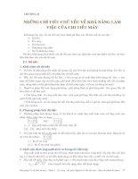 Cơ sở thiết kế máy - Phần 1 Những vấn đề cơ bản trong thiết kế máy và chi tiết máy - Chương 2 doc