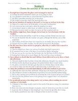 ĐỀ THI THỬ TỐT NGHIỆP MÔN TIẾNG ANH - Number 6 potx
