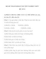 BỘ ĐỀ THAM KHẢO THI TỐT NGHIỆP MÔN SINH HỌC THPT ĐỀ SỐ 8 ppsx