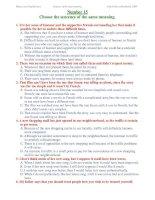 ĐỀ THI THỬ TỐT NGHIỆP MÔN TIẾNG ANH - Number 15 potx