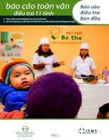 Thực hành nuôi dưỡng trẻ sơ sinh và trẻ nhỏ