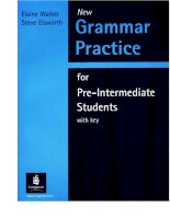 grammar practice for pre intermediate students phần 1 doc