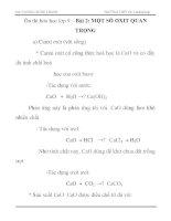 Ôn thi hóa học lớp 9 – Bài 2: MỘT SỐ OXIT QUAN TRỌNG ppt