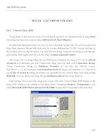 LẬP TRÌNH TRỰC QUAN - PHẦN II VISUAL BASIC - BÀI 24 pdf