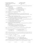 Đề kiểm tra 15 phút Môn Vật lý lớp 11 - Đề số : 004 pot