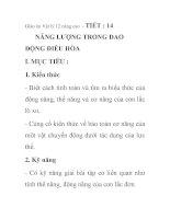 Giáo án Vật lý 12 nâng cao - TIẾT : 14 NĂNG LƯỢNG TRONG DAO ĐỘNG ĐIỀU HÒA pdf