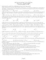 Đề thi thử đại học môn vật lý lần 3 năm 2011 ppt