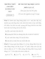 ĐỀ THI THỬ ĐẠI HỌC LẦN II TRƯỜNG THPT CHUYÊN LƯƠNG VĂN TỤY Mã đề thi 504 pps