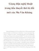 Giọng điệu nghệ thuật trong tiểu thuyết thời kì đổi mới của Ma Văn Kháng pptx