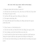 ĐỀ THI THỬ ĐẠI HỌC MÔN SINH HỌC Đề 2 TRƯỜNG THPT HÀ HUY TẬP docx