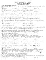 Đề thi thử đại học môn vật lý lần 2 năm 2011 ppt