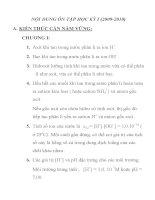BÀI TẬP ÔN TẬP MÔN HÓA HỌC LỚP 11 TRƯỜNG THPT PHAN CHU TRINH pot