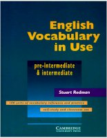 cambridge english vocabulary in use pre intermediate phần 1 pps