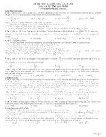 Đề thi thử đại học môn vật lý lần 4 năm 2011 ppsx