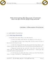 Giáo trình hướng dẫn tổng quan về autocad cách cài đặt và khởi động trong autocad p1 docx