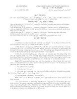 QUYẾT ĐỊNH Số: 63/2007/QĐ-BTC VỀ VIỆC QUY ĐỊNH MỨC THU, CHẾ ĐỘ THU, NỘP, QUẢN LÝ VÀ SỬ DỤNG PHÍ Y TẾ DỰ PHÒNG VÀ PHÍ KIỂM DỊCH Y TẾ BIÊN GIỚI ppsx