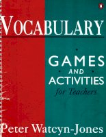vocabulary games for teachers phần 1 doc