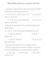 Bài tập trắc nghiệm môn hóa học lớp 10 chương 2: Bảng tuần hoàn các nguyên tố hóa học ppt