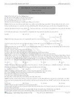 Đề thi tự luyện đại học môn vật lý - 17 doc