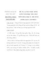 ĐỀ TỰ LUYỆN HỌC SINH GIỎI MÔN HÓA HỌC LỚP 8 MÃ ĐỀ 04 PHÒNG GD & ĐT BẮC TRÀ MY TRƯỜNG THCS NGUYỄN DU pdf