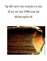 Sự đổi mới của truyện có yếu tố kỳ ảo sau 1986 qua hệ thống ngôn từ pot