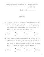 Đề thi khảo sát chất lượng môn hóa học lớp 11 mã đề 114 Trường thpt nguyễn trãi pptx