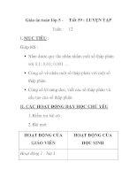 Giáo án toán lớp 5 - Tiết 59 : LUYỆN TẬP 12 pot