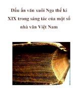 Dấu ấn văn xuôi Nga thế kỉ XIX trong sáng tác của một số nhà văn Việt Nam pptx