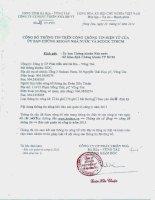 CÔNG TY cổ PHẦN PHÁT TRIỂN NHÀ bà rịa VŨNG tàu công bố thông tin trên cổng thông tin điện tử của ủy ban chứng khoán nhà nước và SGDCK TPHCM năm 2014