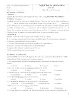 English Test for gifted students grade 12th ppsx