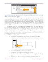 Giáo trình hướng dẫn cách sử dụng thủ thuật trong việc làm movie phần 6 ppsx